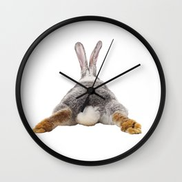Cute Bunny Rabbit Tail Butt Image Easter Animal Wall Clock