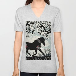 Folk Unicorn Unisex V-Neck