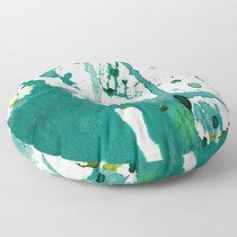 emerald green splash Floor Pillow
