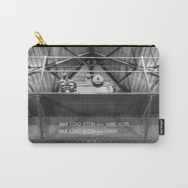 Gantry crane in black and white Carry-All Pouch