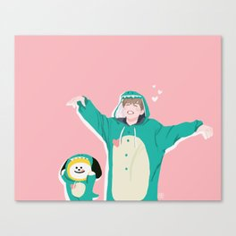 Dinosaur Chimmy (Pink Ver.) Canvas Print