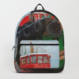 Tugboats on Penobscot Bay Backpack