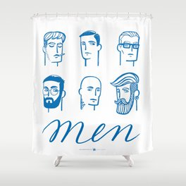 Men (are not all the same) Shower Curtain