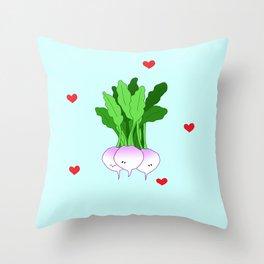 Turnip Friends Throw Pillow