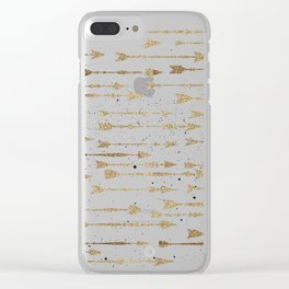 Contrary arrows Clear iPhone Case