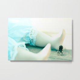 Alice's Escapades ~ Alice & The Chair Metal Print