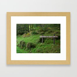 Green Road, Glendalough, Ireland Framed Art Print