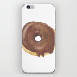 Chocolate Iced Doughnut iPhone Skin