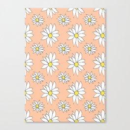 Fresh As A Daisy (Coral) Canvas Print