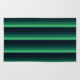 forest Green stripes Rug