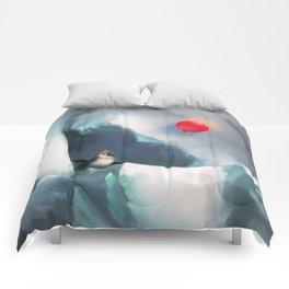 Heart Penguin Comforters