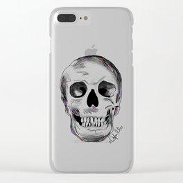 Pirate Skull Clear iPhone Case