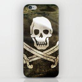 Pirate Skull in Cross Swords iPhone Skin