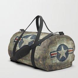 USAF vintage retro style roundel Duffle Bag