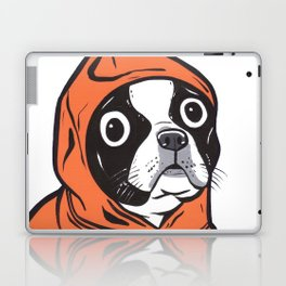 Boston Terrier Orange Hoodie Laptop & iPad Skin