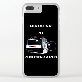 Director Of Photography Clear iPhone Case