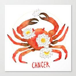 Cancer Zodiac Canvas Print