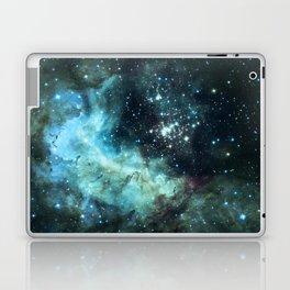 Teal Green Galaxy : Celestial Fireworks Laptop & iPad Skin