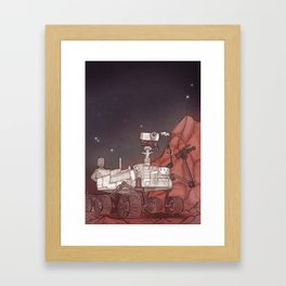 The Mars Rover Curiosity Framed Art Print