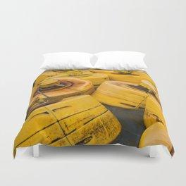 Yellow gathering Duvet Cover