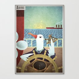 A-Z Animal, Albatross Quartermaster - Illustration Canvas Print