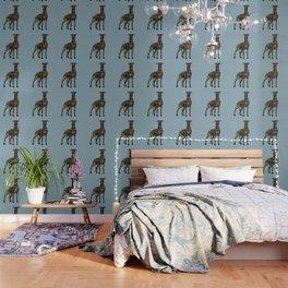 greyhound azure blue Wallpaper