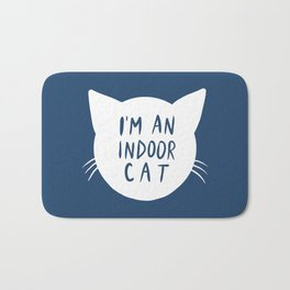 Indoor Cat (silhouette) Bath Mat