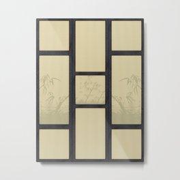 Tatami - Bamboo Metal Print