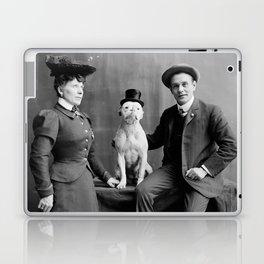 Vintage Photo of Dog Smoking Cigarette, 1900 Laptop & iPad Skin
