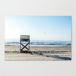 While the Lifeguards Away Canvas Print