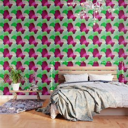 Opala Circles are the new triangles purple #homedecor Wallpaper