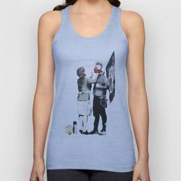 Banksy, Punk with mother Unisex Tank Top
