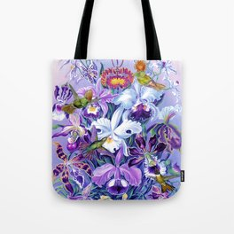 Orchids & Hummingbirds Tote Bag
