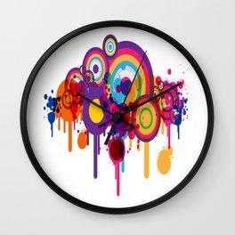Color Paint Blobs Wall Clock