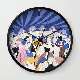 1920s Nightclub Illustration for Vanity Fair Wall Clock
