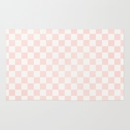 Pink Coral Checkers Rug