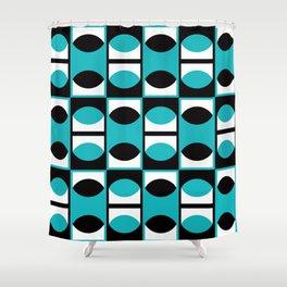 Geometric Pattern #133 (turquoise lens) Shower Curtain