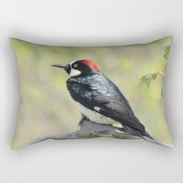 Acorn Woodpecker At Rest Rectangular Pillow