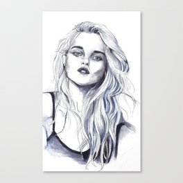 Sky Ferreira by Hedi Slimane II Canvas Print