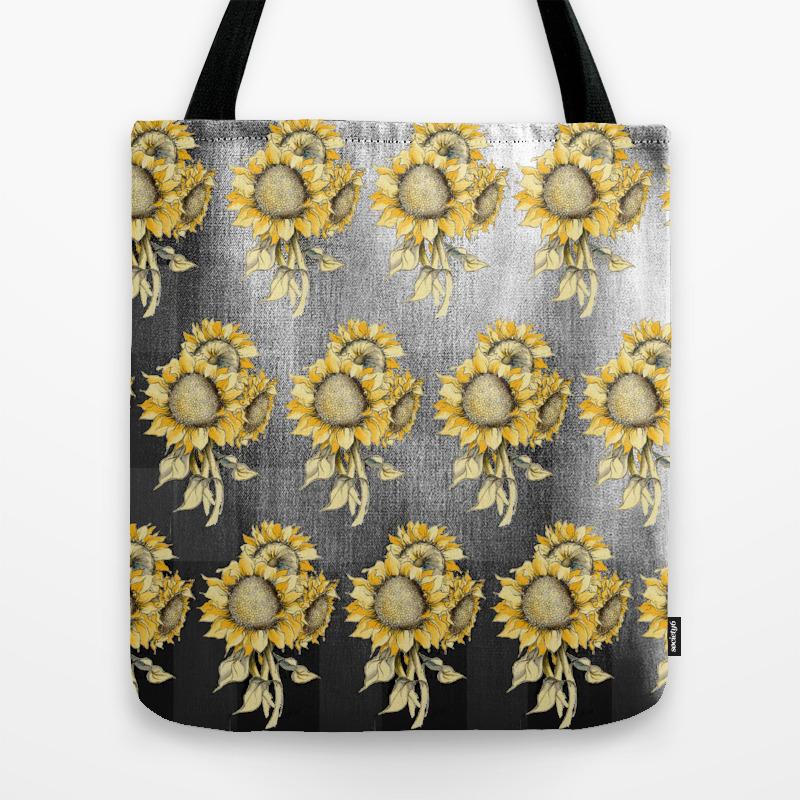 Yellow Sunflower Pattern Tote Bag by Jrosedesign TBG8744100