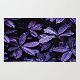 Stillness, Botanical Plants Leaves Rug