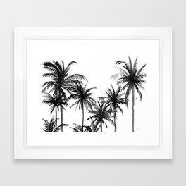 Paradis Noir V Framed Art Print
