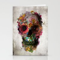 bianca green Stationery Cards featuring SKULL 2 by Ali GULEC