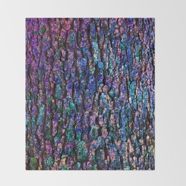 Afantasy Abstraction of Tree Bark Throw Blanket