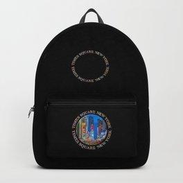 Times Square New York Badge Emblem (on black) Backpack