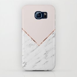 Peony blush geometric marble iPhone Case
