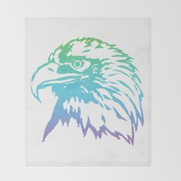 Gradient Hawk Throw Blanket