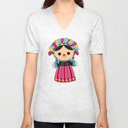 Maria 3 (Mexican Doll) Unisex V-Neck