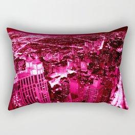 Chicago Skyline Hot Pink Rectangular Pillow