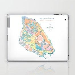 Mackinac Island Map : pastels Laptop & iPad Skin